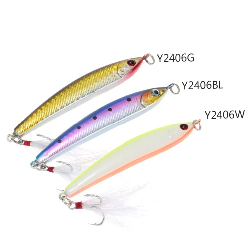 8.5cm 14g Sinking Pencil Lure Hard Bait Artificial Fishing Lure with Treble Hook FeatherSports &amp; Outdoor<br>8.5cm 14g Sinking Pencil Lure Hard Bait Artificial Fishing Lure with Treble Hook Feather<br>