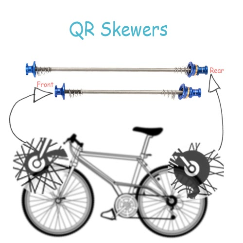 Lixada 2Pcs Ultralight Bicycle Skewers Quick Release Titanium Axle QR SkewerSports &amp; Outdoor<br>Lixada 2Pcs Ultralight Bicycle Skewers Quick Release Titanium Axle QR Skewer<br>