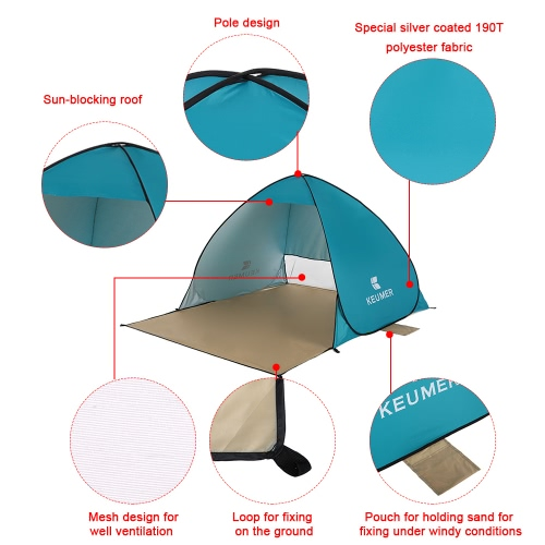 (120+60)*150*100cm Outdoor Automatic Instant Pop-up Portable Beach Tent Anti UV Shelter Camping Fishing Hiking PicnicSports &amp; Outdoor<br>(120+60)*150*100cm Outdoor Automatic Instant Pop-up Portable Beach Tent Anti UV Shelter Camping Fishing Hiking Picnic<br>