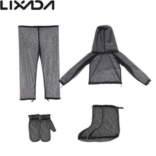 Lixada Lightweight Summer Bug Wear Mosquito Suit Jacket Mitts Pants Socks for Men Women With Ultra-fine Mesh Hiking Fishing CampinSports &amp; Outdoor<br>Lixada Lightweight Summer Bug Wear Mosquito Suit Jacket Mitts Pants Socks for Men Women With Ultra-fine Mesh Hiking Fishing Campin<br>
