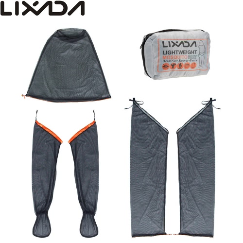 Lixada Lightweight Summer Bug Wear Mosquito Free Suit Head Net Sleeves Pants for Men Women with Ultra-fine Mesh Hiking Fishing CamSports &amp; Outdoor<br>Lixada Lightweight Summer Bug Wear Mosquito Free Suit Head Net Sleeves Pants for Men Women with Ultra-fine Mesh Hiking Fishing Cam<br>