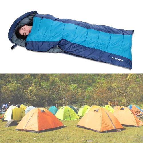 TOMSHOO (190+30)X75CM Thermal Adult Outdoor Hooded Envelope Sleeping Bag Camping Travel Hiking Multifunction Thick 1.5kg 10-15?Sports &amp; Outdoor<br>TOMSHOO (190+30)X75CM Thermal Adult Outdoor Hooded Envelope Sleeping Bag Camping Travel Hiking Multifunction Thick 1.5kg 10-15?<br>