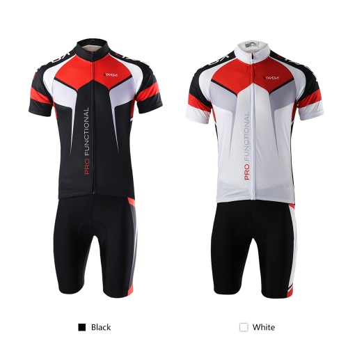 Men Breathable Quick Dry Comfortable Short Sleeve Jersey + Padded Shorts Cycling Clothing Set Riding SportswearSports &amp; Outdoor<br>Men Breathable Quick Dry Comfortable Short Sleeve Jersey + Padded Shorts Cycling Clothing Set Riding Sportswear<br>