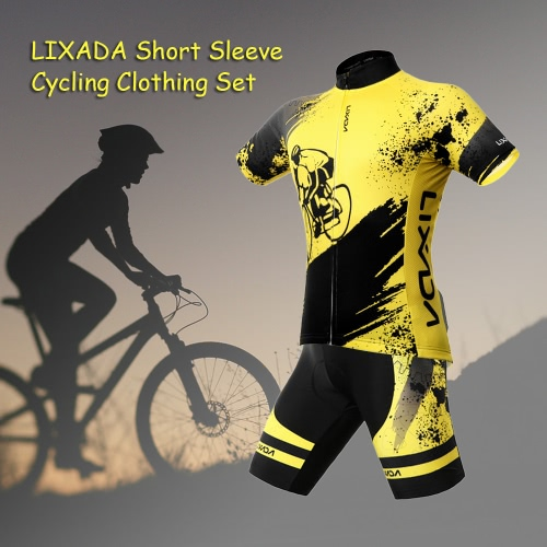 Lixada Breathable Comfortable Short Sleeve Padded Shorts Cycling Clothing Set Riding SportswearSports &amp; Outdoor<br>Lixada Breathable Comfortable Short Sleeve Padded Shorts Cycling Clothing Set Riding Sportswear<br>