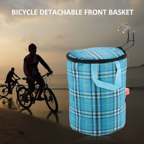 Bicycle Bike Detachable Cycle Canvas Front Basket Carrier Bag Steel FrameSports &amp; Outdoor<br>Bicycle Bike Detachable Cycle Canvas Front Basket Carrier Bag Steel Frame<br>