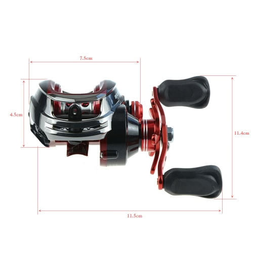 11+1BB 6:3:1 Left/Right Hand Baitcasting Fishing Reel Bait Casting Reel Baitcast Reel Fishing Wheel Fishing TackleSports &amp; Outdoor<br>11+1BB 6:3:1 Left/Right Hand Baitcasting Fishing Reel Bait Casting Reel Baitcast Reel Fishing Wheel Fishing Tackle<br>