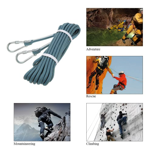 Docooler 10.5mm * 10m Abseiling Rope Outdoor Safety Professional Rock Climbing Rope Cord Caving Rappelling Survival Auxiliary CordSports &amp; Outdoor<br>Docooler 10.5mm * 10m Abseiling Rope Outdoor Safety Professional Rock Climbing Rope Cord Caving Rappelling Survival Auxiliary Cord<br>