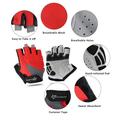 ROCKBROS Unisex Breathable Half Finger Riding Gloves Road Cycling Gloves Racing Riding Motorcycling Skiing Hiking OutdoorSports &amp; Outdoor<br>ROCKBROS Unisex Breathable Half Finger Riding Gloves Road Cycling Gloves Racing Riding Motorcycling Skiing Hiking Outdoor<br>