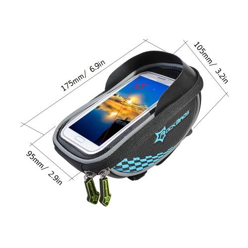 ?ROCKBROS Rainproof Riding Bicycle Bike Handlebar Phone Storage Bag Holder Cycling Bag Smartphone Bag GPS Touch Screen Case BicyclSports &amp; Outdoor<br>?ROCKBROS Rainproof Riding Bicycle Bike Handlebar Phone Storage Bag Holder Cycling Bag Smartphone Bag GPS Touch Screen Case Bicycl<br>