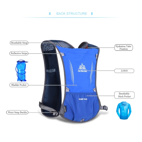 AONIJIE Premium Reflective Vest Sport Water Bottle Backpack Bag for Running Cycling Clothes for Women Men Safety Gear with PocketSports &amp; Outdoor<br>AONIJIE Premium Reflective Vest Sport Water Bottle Backpack Bag for Running Cycling Clothes for Women Men Safety Gear with Pocket<br>