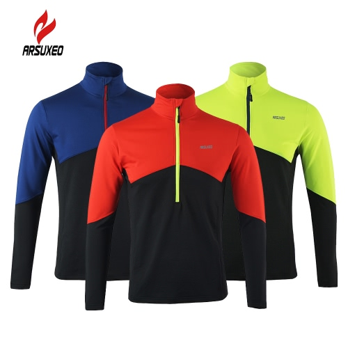 Arsuxeo Long Sleeve Cycling Coat Jacket Bicycle Bike Outdoor Spring Summer Sportswear Cloth Zippered Breathable JacketSports &amp; Outdoor<br>Arsuxeo Long Sleeve Cycling Coat Jacket Bicycle Bike Outdoor Spring Summer Sportswear Cloth Zippered Breathable Jacket<br>