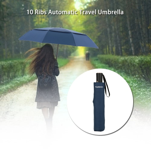 TOMSHOO Windproof Double Canopy Automatic UmbrellaSports &amp; Outdoor<br>TOMSHOO Windproof Double Canopy Automatic Umbrella<br>