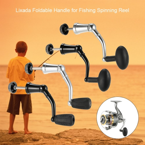 Lixada Aluminum Alloy Rotary Knob Foldable Power Handle for Fishing Spinning Reel Replacement Handle Nonslip GripSports &amp; Outdoor<br>Lixada Aluminum Alloy Rotary Knob Foldable Power Handle for Fishing Spinning Reel Replacement Handle Nonslip Grip<br>