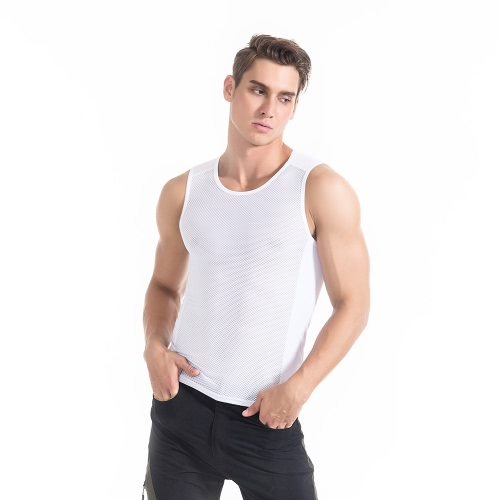 TOMSHOO Mens Ultralight Baselayer Mesh Sleeveless Compression Shirt Cycling Running Sports Base Layer Undershirt TopSports &amp; Outdoor<br>TOMSHOO Mens Ultralight Baselayer Mesh Sleeveless Compression Shirt Cycling Running Sports Base Layer Undershirt Top<br>