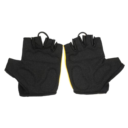 QEPAE Non-Slip Gel Pad Gloves Mens Womens Sportswear Cycling Riding Short Half Finger Gloves Breathable Shock-absorptionSports &amp; Outdoor<br>QEPAE Non-Slip Gel Pad Gloves Mens Womens Sportswear Cycling Riding Short Half Finger Gloves Breathable Shock-absorption<br>