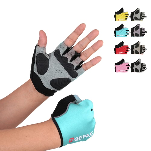QEPAE Biking Gloves Gel Pad Fingerless Half Finger Gloves for Safe Night Riding Cycling HikingSports &amp; Outdoor<br>QEPAE Biking Gloves Gel Pad Fingerless Half Finger Gloves for Safe Night Riding Cycling Hiking<br>