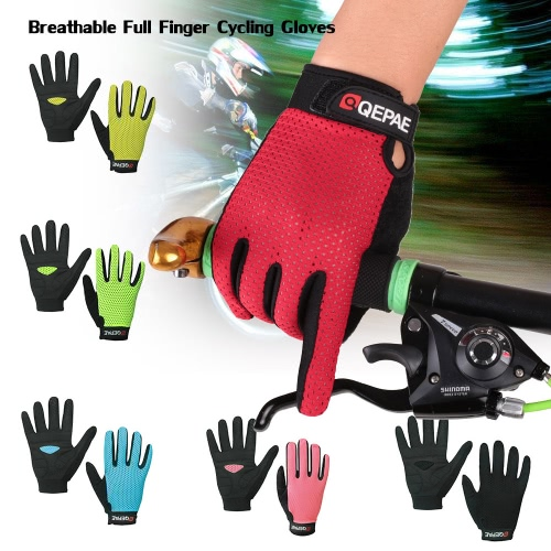 QEPAE Full Finger Gloves Sports Breathable Riding Cycling Gloves Shock Absorbent Wear-resistantSports &amp; Outdoor<br>QEPAE Full Finger Gloves Sports Breathable Riding Cycling Gloves Shock Absorbent Wear-resistant<br>