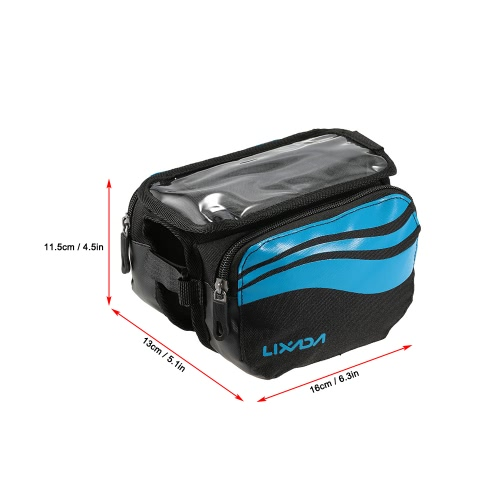 Lixada Bicycle Front Frame Bag MTB Road Bike Cycling Tube Pannier Bag Touch Screen Phone Bag for 4.8~5.7 CellphoneSports &amp; Outdoor<br>Lixada Bicycle Front Frame Bag MTB Road Bike Cycling Tube Pannier Bag Touch Screen Phone Bag for 4.8~5.7 Cellphone<br>