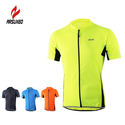 Arsuxeo Mens Short Sleeve Cycling Jersey Breathable Shirt Sportswear Quick Dry Short Sleeve MTB Bike Cycling ShirtSports &amp; Outdoor<br>Arsuxeo Mens Short Sleeve Cycling Jersey Breathable Shirt Sportswear Quick Dry Short Sleeve MTB Bike Cycling Shirt<br>