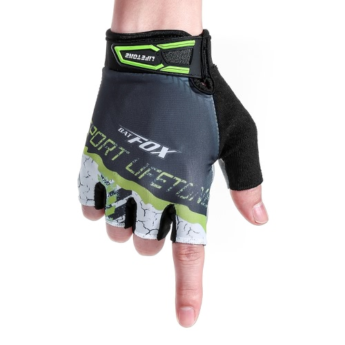 BATFOX Men's Women's Summer Cycling Half Finger Gloves Breathable Wear-resistant Sports GlovesSports &amp; Outdoor<br>BATFOX Men's Women's Summer Cycling Half Finger Gloves Breathable Wear-resistant Sports Gloves<br>