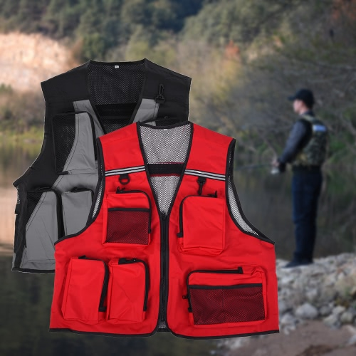 Outdoor Multi-Pocket Fishing Vest Breathable Active Wear Jacket for Fishing Photography Sports Hiking CyclingSports &amp; Outdoor<br>Outdoor Multi-Pocket Fishing Vest Breathable Active Wear Jacket for Fishing Photography Sports Hiking Cycling<br>