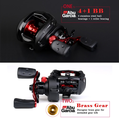 ABU GARCIA Black Max3 BMAX3 Left Right Hand Bait Casting Fishing Reel 5BB 6.4:1 Max Drag 8kg Baitcasting ReelSports &amp; Outdoor<br>ABU GARCIA Black Max3 BMAX3 Left Right Hand Bait Casting Fishing Reel 5BB 6.4:1 Max Drag 8kg Baitcasting Reel<br>