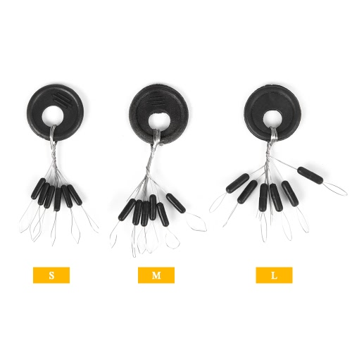 Lixada 50PCS Black Rubber Stopper Fishing Float Space Bean Stopper Float Line Stoppers StopsSports &amp; Outdoor<br>Lixada 50PCS Black Rubber Stopper Fishing Float Space Bean Stopper Float Line Stoppers Stops<br>