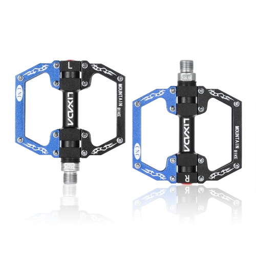 Lixada Bike Bicycle Pedals MTB Mountain Road Bike Pedals Platform CNC Aluminum Alloy Cycling Hollow Pedals