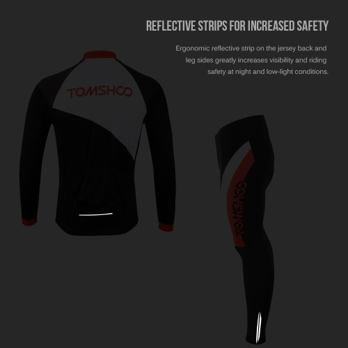 TOMSHOO Spring Autumn Men Cycling Clothing Set Sportswear Road Mountain Bicycle Bike Outdoor Full Zip Long Sleeve Cycling Jersey +Sports &amp; Outdoor<br>TOMSHOO Spring Autumn Men Cycling Clothing Set Sportswear Road Mountain Bicycle Bike Outdoor Full Zip Long Sleeve Cycling Jersey +<br>