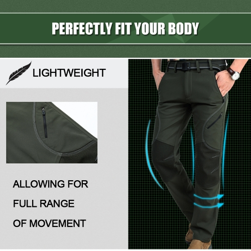 Mens Water-repellent Windproof Fleece Lined Pants Trousers Outdoor Sport Climbing Camping Hiking Mountain Pants 5 Zipped PocketsSports &amp; Outdoor<br>Mens Water-repellent Windproof Fleece Lined Pants Trousers Outdoor Sport Climbing Camping Hiking Mountain Pants 5 Zipped Pockets<br>