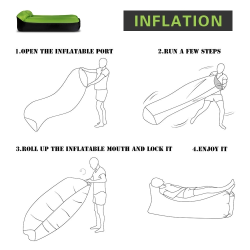 Inflatable Lounger Portable Air Beds Sleeping SofaSports &amp; Outdoor<br>Inflatable Lounger Portable Air Beds Sleeping Sofa<br>