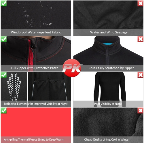 TOMSHOO Mens Winter Thermal Fleece Cycling JacketSports &amp; Outdoor<br>TOMSHOO Mens Winter Thermal Fleece Cycling Jacket<br>