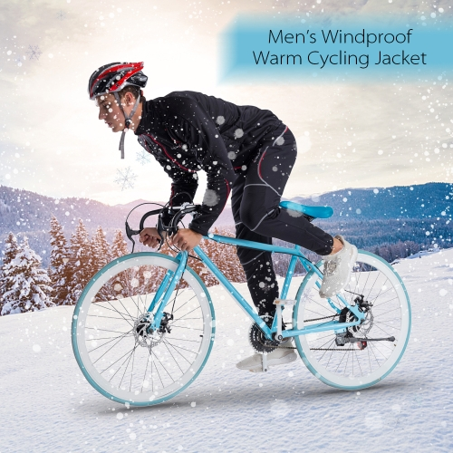 Mens Autumn Winter Fleece Thermal Windproof Cycling Jacket Outdoor Sport Long Sleeve MTB Bike Bicycle Riding Jersey CoatSports &amp; Outdoor<br>Mens Autumn Winter Fleece Thermal Windproof Cycling Jacket Outdoor Sport Long Sleeve MTB Bike Bicycle Riding Jersey Coat<br>