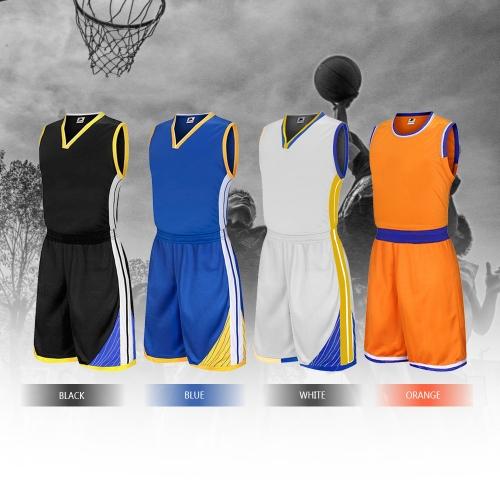 Basketball Shirt Uniforms Set Sleeveless Sports Clothing Breathable Ball Jersey Basketball Sweat T-Shirt for Men