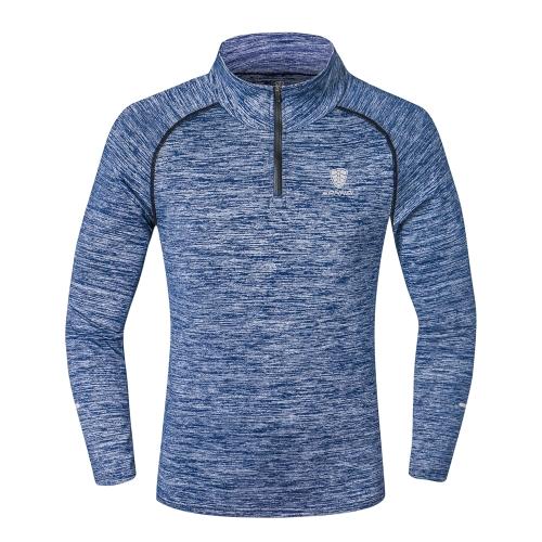 男性長袖スポーツトップススポーツウェアメンズフィットネス速乾Tシャツ屋外ランニング登山服トレーニングシャツ