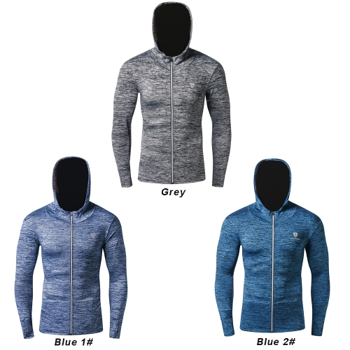 Autumn Winter Male Fitness Coat Long Sleeve Men Quick Drying Clothing Outdoor Sports Basketball Running Training Hoodie with ZippeSports &amp; Outdoor<br>Autumn Winter Male Fitness Coat Long Sleeve Men Quick Drying Clothing Outdoor Sports Basketball Running Training Hoodie with Zippe<br>