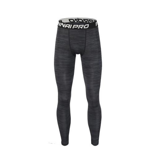 男性用クイック乾燥タイツフィットネス用ズボン男性用スウェットフリーバスケットボールランニングトレーニング用パンツ通気性弾性圧縮レギンス