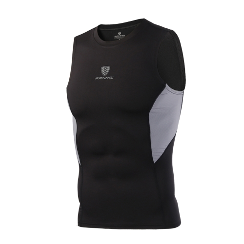 Male Fitness Tights Tops Springy Sleeveless Quick Drying Vest Basketball Running Trainning Compression Sportswear Underwaist for MSports &amp; Outdoor<br>Male Fitness Tights Tops Springy Sleeveless Quick Drying Vest Basketball Running Trainning Compression Sportswear Underwaist for M<br>