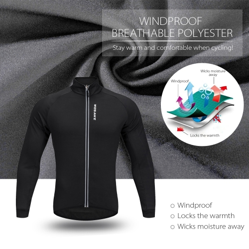 WOSAWE Mens Cycling Jacket Windproof Warm Fleece Winter MTB Bike Bicycle Riding Jersey Outdoor Sport CoatSports &amp; Outdoor<br>WOSAWE Mens Cycling Jacket Windproof Warm Fleece Winter MTB Bike Bicycle Riding Jersey Outdoor Sport Coat<br>