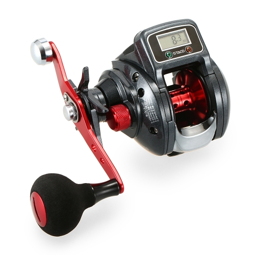 Low Profile Linecounter Reel 6.3:1 13+1 Ball Bearing Bait Casting Reel Baitcast Fishing Reel Tackle with Digital DisplaySports &amp; Outdoor<br>Low Profile Linecounter Reel 6.3:1 13+1 Ball Bearing Bait Casting Reel Baitcast Fishing Reel Tackle with Digital Display<br>