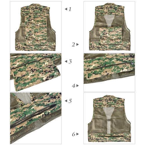 Summer Multifunctional Quick-Drying Mesh Fishing Vest Jacket Multi-Pocket Outdoor Photography Angler CoatSports &amp; Outdoor<br>Summer Multifunctional Quick-Drying Mesh Fishing Vest Jacket Multi-Pocket Outdoor Photography Angler Coat<br>