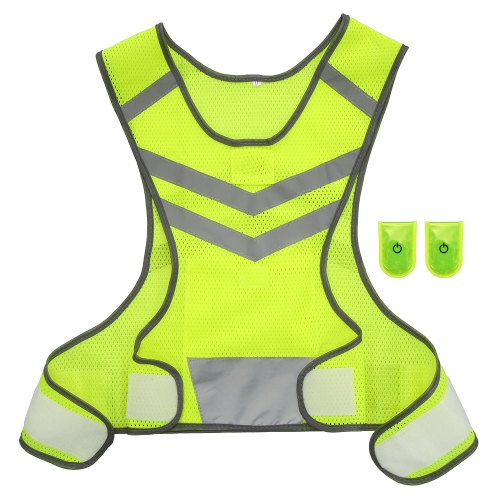 Outdoor Sports Running Reflective Vest Adjustable Lightweight Mesh Safety Gear for Women Men Jogging Cycling WalkingSports &amp; Outdoor<br>Outdoor Sports Running Reflective Vest Adjustable Lightweight Mesh Safety Gear for Women Men Jogging Cycling Walking<br>