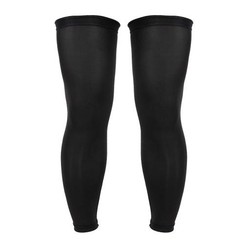 Lixada 2PCS長い脚スリーブバスケットボールフットボール膝パッドスポーツランニングサイクリングハイキング脚スリーブ
