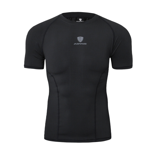 メンズランニングトレーニングショートTシャツ高弾性タイト速乾性吸収性シャツソフトコンプレッションフィットネススポーツウェア