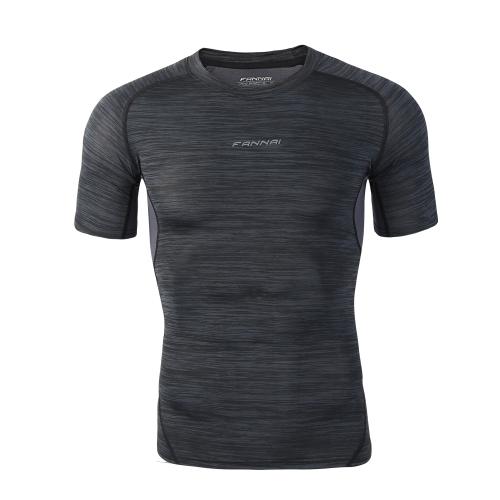 メンズスポーツタイトシャツクイックドライビングTシャツクイックドライビングTシャツバスケットボールランニングトレイントップ服