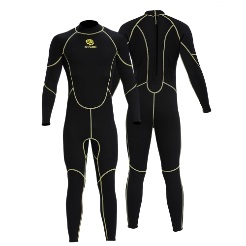 Men's 3mm Back Zip Full Body Wetsuit Swimming Surfing Diving Snorkeling Suit Jumpsuit