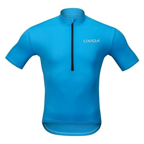 Lixada Men's Cycling Jersey Breathable Quick Dry Bike Biking Short Sleeve Shirt