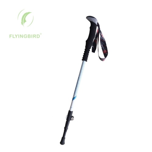 Carbon Fiber Trekking Pole Adjustable Lightweight With EVA Grip and Twist Lock for Hiking Walking Running