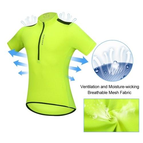 Men's Short Sleeve Cycling Jersey Breathable Half Zipper MTB Riding Biking Bicycle Shirt Top