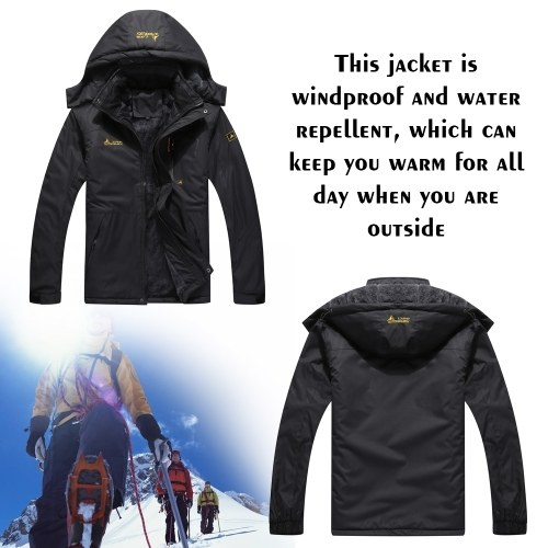 Large Size Men's Male Mountain Waterproof Ski Jacket Windproof Rain Winter Inner Fleece Waterproof Jacket Outdoor Sport Warm Brand Coat Hiking Camping Trekking Skiing Femal Male Jackets
